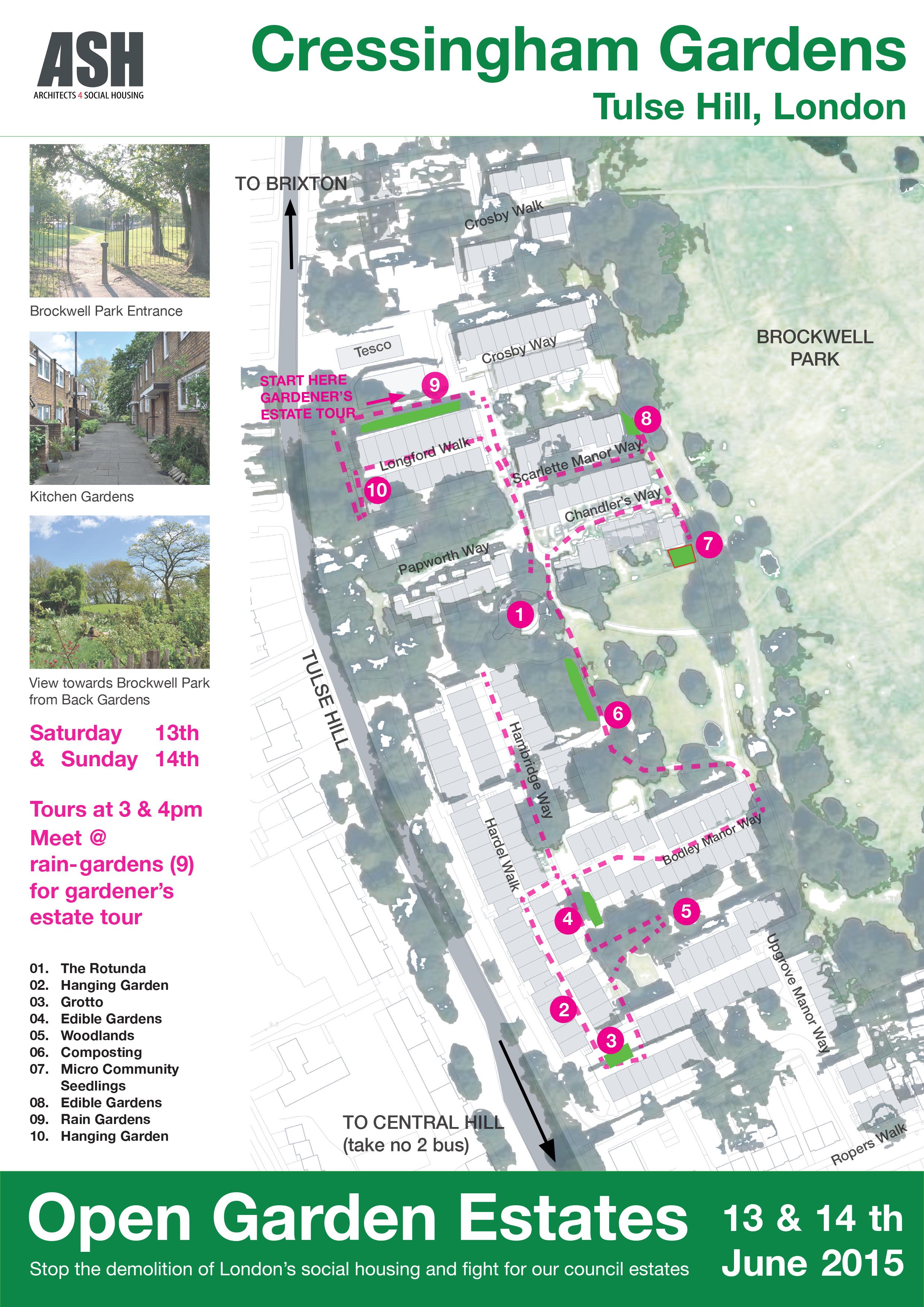 Cressingham Gardens Map 2015